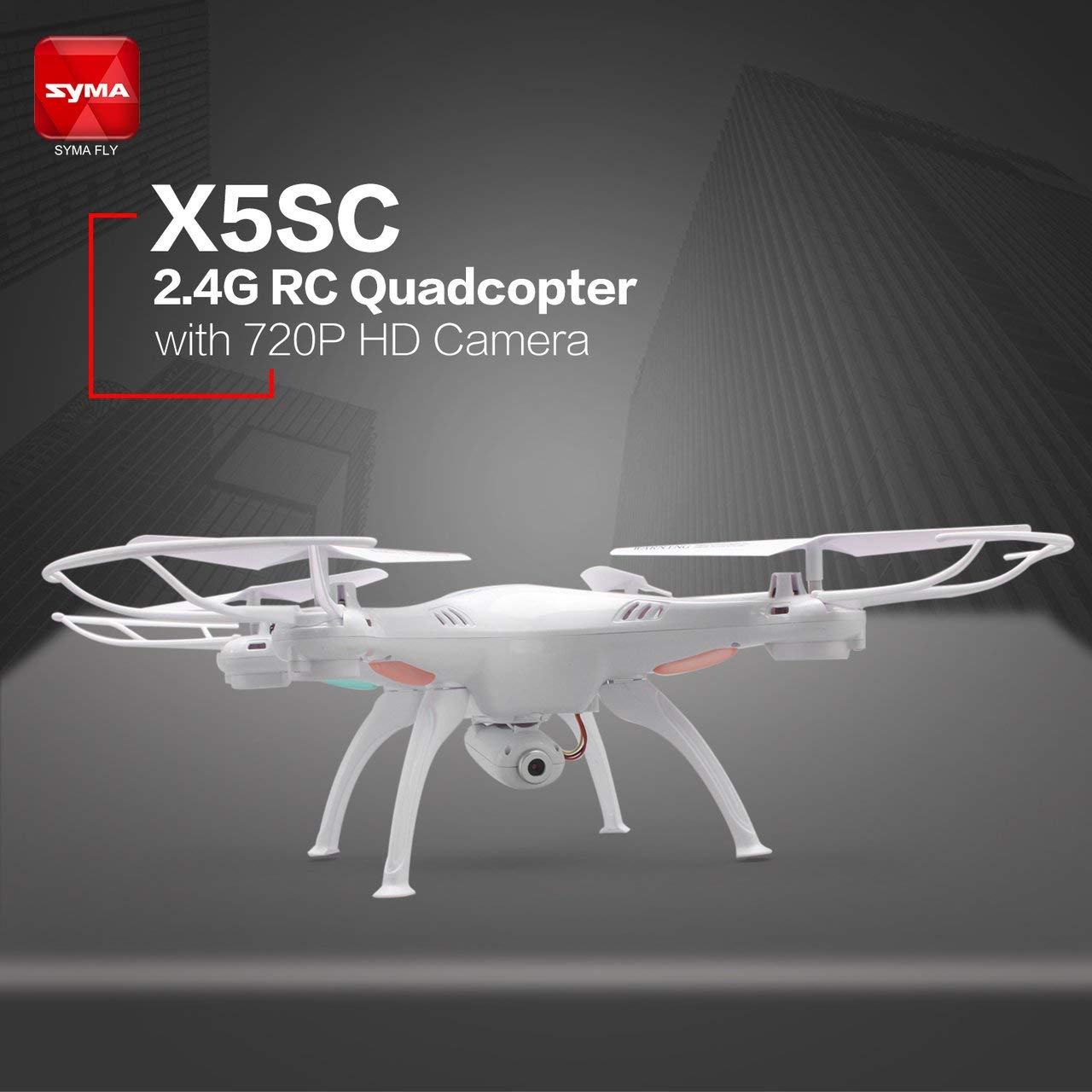 Jasnyfall SYMA X5SC 2.4G RC RC RC Quadcopter Drone mit 720P HD Kamera Headless Modus Weiß 5e6188
