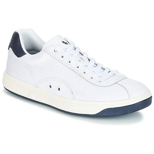 Polo RALPH LAUREN Court 100 Zapatillas Moda Hombres Blanco/Marino Zapatillas Bajas: Amazon.es: Zapatos y complementos