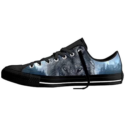 Abstract Wolf Mens Womens Expected Low-Top Relaxed-Fit Slip-On Loafer
