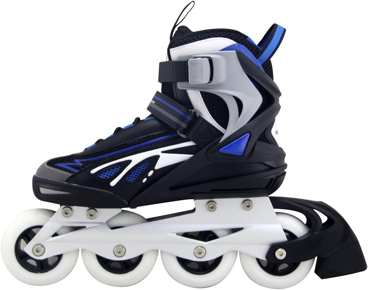 39 schwarz blau Kounga SENHAI Performance Inline Skates Inliner Inlineskates Gr