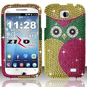 Cellphone Cover For BLU Studio II 5.3 D550a - Full Diamond Cover - Owl FPD
