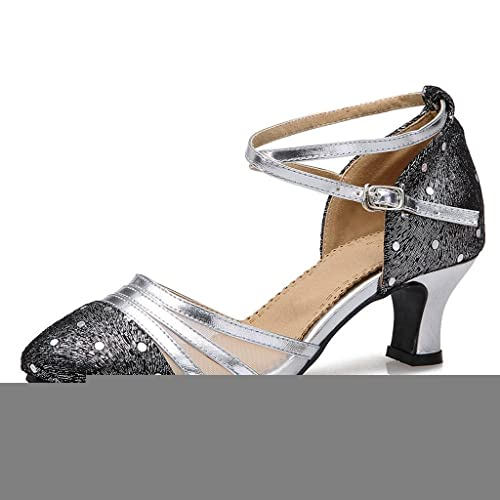 Sports & Entertainment Sneakers New Ladies Silver Glitter Salsa Latin Tango Shoes Samba Dancing Shoes Ballroom Shoes For Women