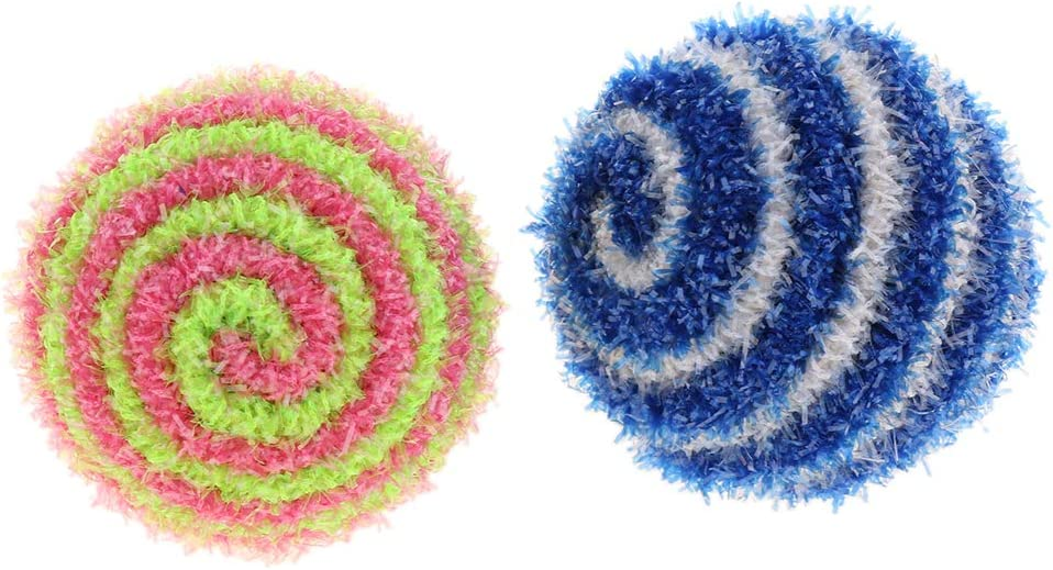 10 Pack Sparkle Glitter Tinsel Balls Toys Ramdon Colors 4.5cm Cats Kittens