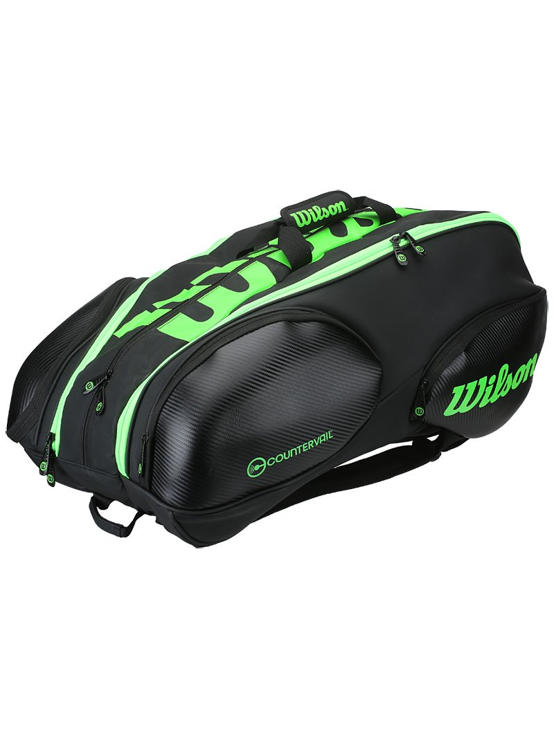 Wilson Blade Collection Racket Bag (15 Pack), Black/Green
