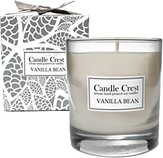 product image for Candle Crest Soy Candles - Vanilla Bean Scented Soy Candle. Made in The USA - Spa Candle Gift Set