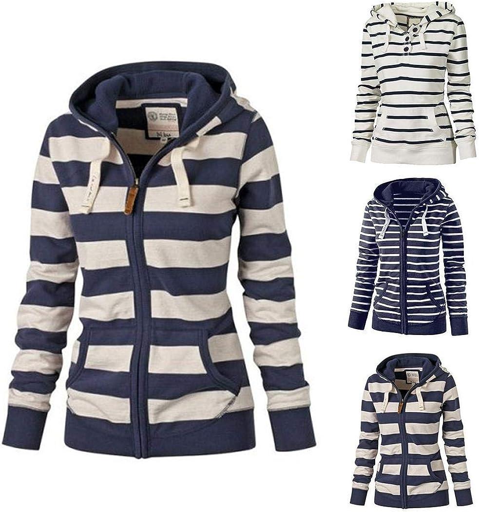 Fashion Women/'s Zipper Long Sleeve Hoodie Hooded Sweatshirt Coat Jacket Pullover