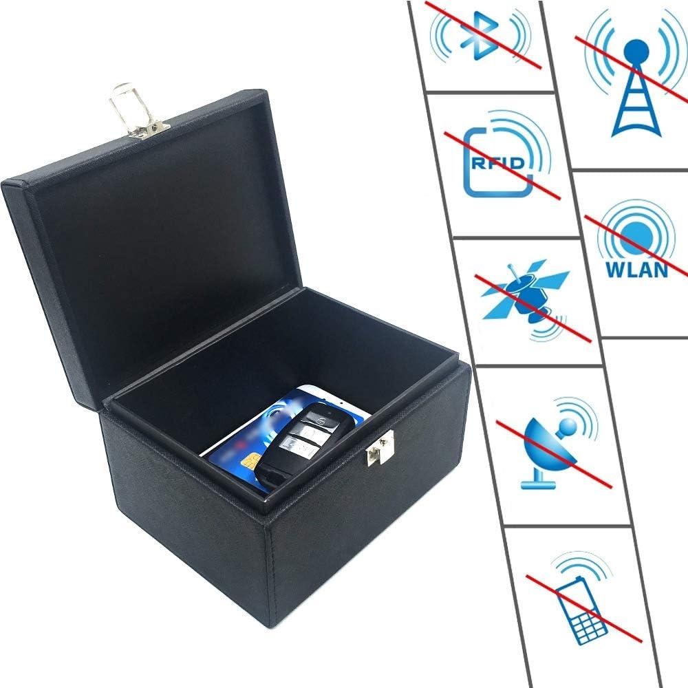 YYD Caja de Faraday, sin Llave del Coche Bloqueador de señal - RFID señal de Bloqueo, la Caja antirrobo, Anti-piratería Caso Bloqueador: Amazon.es: Hogar
