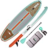 """DRIFT 10'8"""" Inflatable Stand Up Paddle Board, SUP with Accessories   Coiled Leash, Pump, Lightweight Paddle, Fin & Backpack T"""