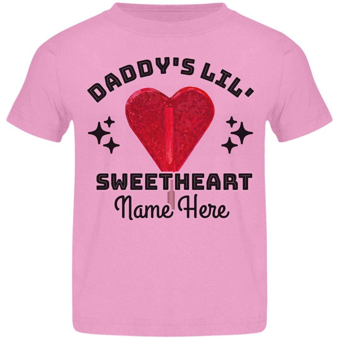 Amazon Customized Girl Daddys Sweetheart Basic Jersey Toddler