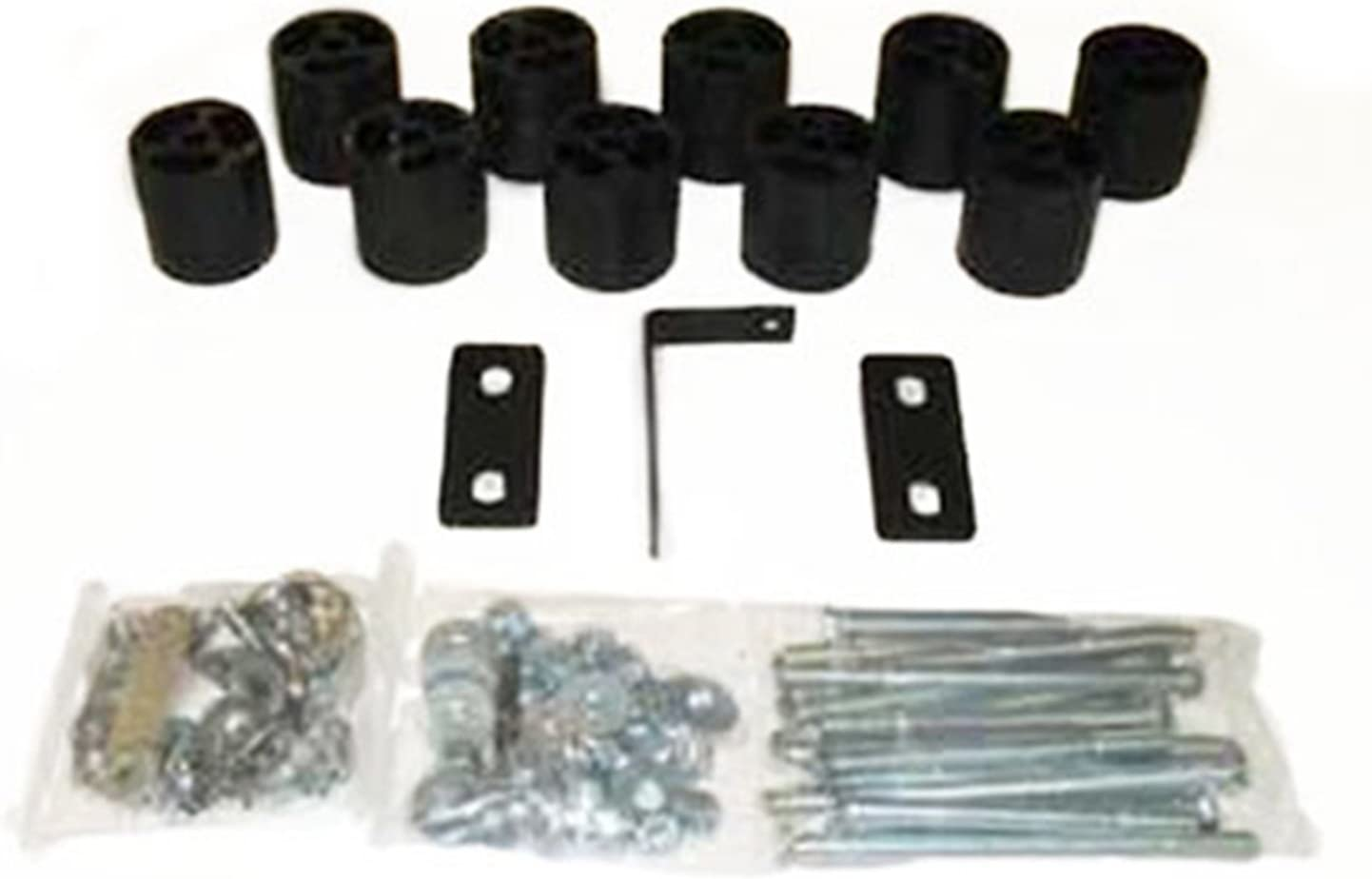 fits 1992 to 1996 Performance Accessories PA843 Made in America Ford Bronco Gas 2WD and 4WD 3 Body Lift Kit