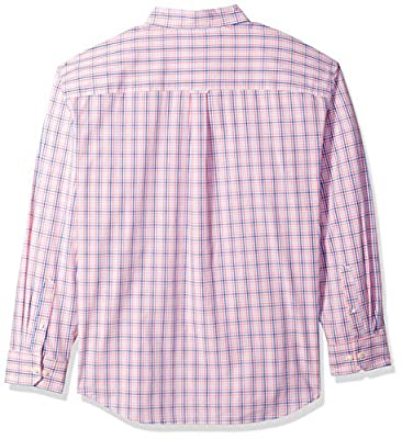 IZOD Men's Big and Tall Essential Plaid Long Sleeve Shirt