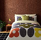 Orla Kiely Placement Flower Tile Orange Yellow USA Queen Size (Duvet Comforter Cover 230CM X 220CM - UK King Size) & Pillowcase Pair