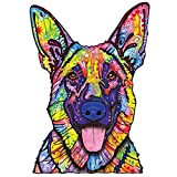 MyWonderfulWalls Animal Pop Art by Dean Russo Dogs Never Lie German Shepherd Wall Decal Cut Out, 14.7-Inch by 21-Inch, Multicolored
