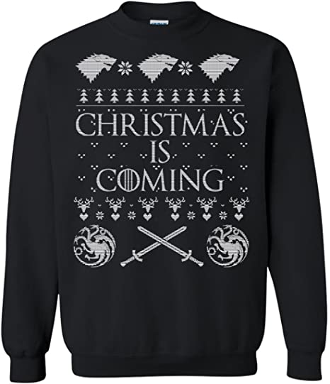Christmas is Coming Top Xmas Funny Stark Wolf Ugly Pullover Sanfran
