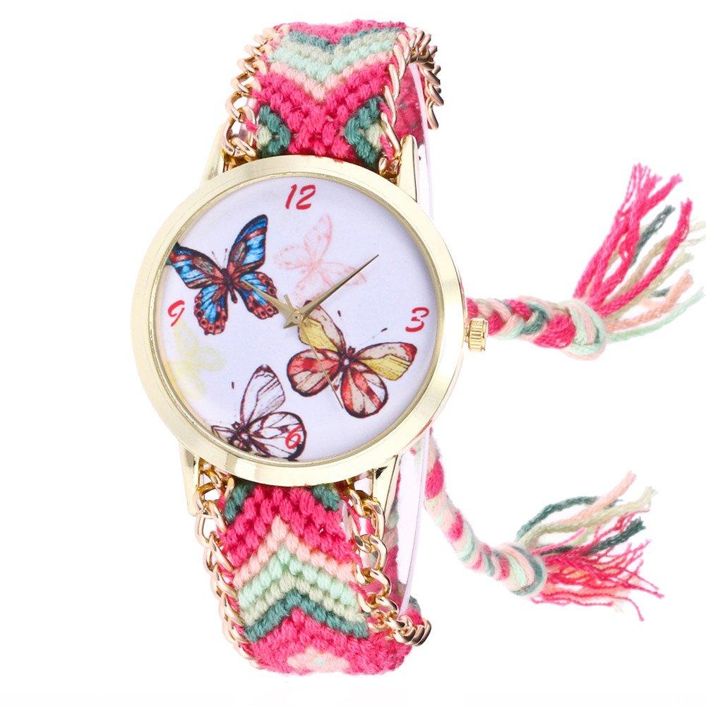 Naturazy-reloje De Pulsera Estilo Hippie Reloj De Cuarzo Mujer DiseñO De Tejiendo Reloj De Pulsera Mujer PatróN De Elefante Reloj De Cuarzo Vintage: ...