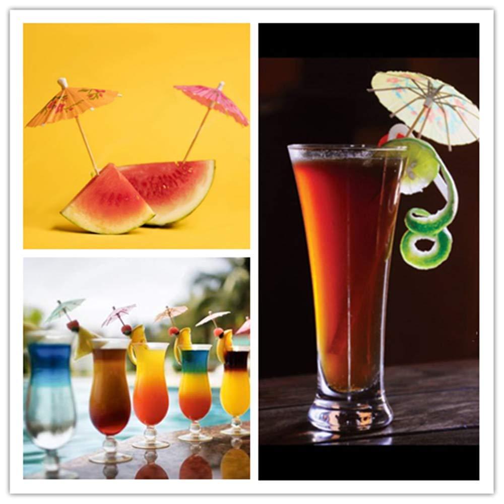 Cocktail Parapluies,100 Pi/èces Ombrelles /à Cocktails Parapluies en Papier Tropical Hawaiian Decorations pour Fiesta,Tropical ou Beach Parties