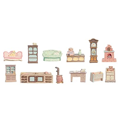Melody Jane Dollhouse 12 Piece Furniture Set Mini Miniatures 1:48 Scale 1/4 inch: Toys & Games [5Bkhe0200943]