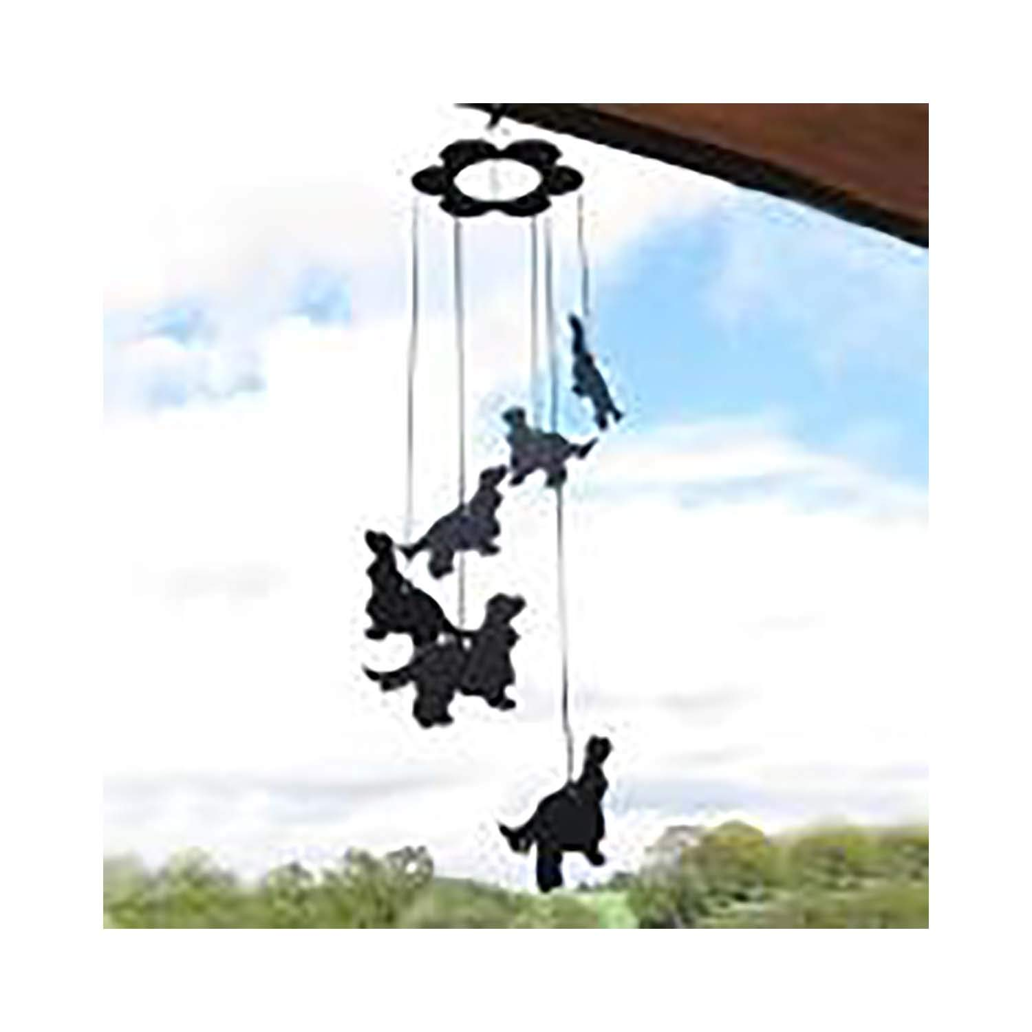 Beautiful Ironwork Dog Breed Silhouettes Car-Pets Ltd Airedale Terrier Dog Lovers Gift WIND CHIMES A quality handmade Wind Chime