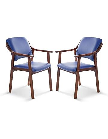 SUENOSZZZ - Pack de 2 Sillas Altea de Madera de Haya, Color Azul. Sillas