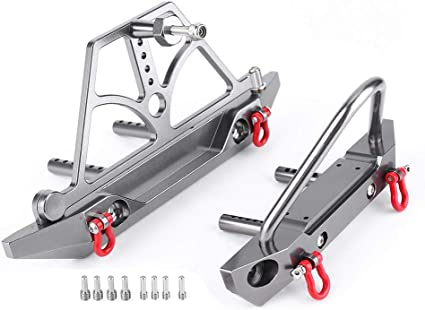 RC 1//10 AXIAL SCX10 CNC ALUMINUM Rear Bumper With Spare Tire Carrier Metal