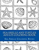 Sea Shells and Turtles Adults Coloring Book
