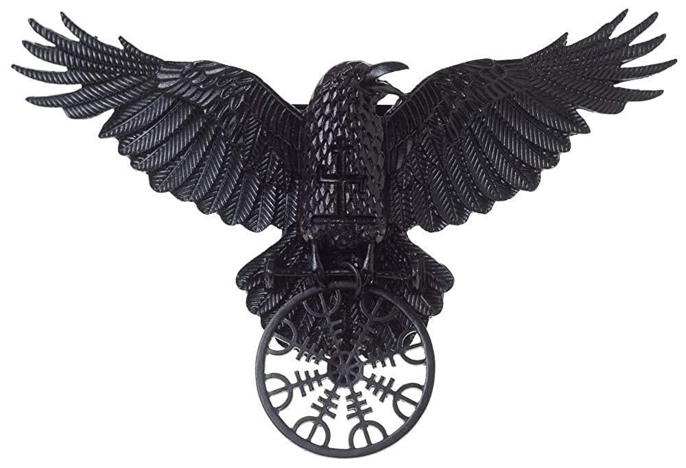 Restyle Helm of Awe Raven Gothic Barrette Hair Clip - Black