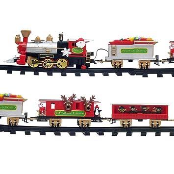 MonsterCadeaux - Mini Train électrique pour Le Sapin de Noël - Décoration  de Noël Originale - 1998ee5c56f