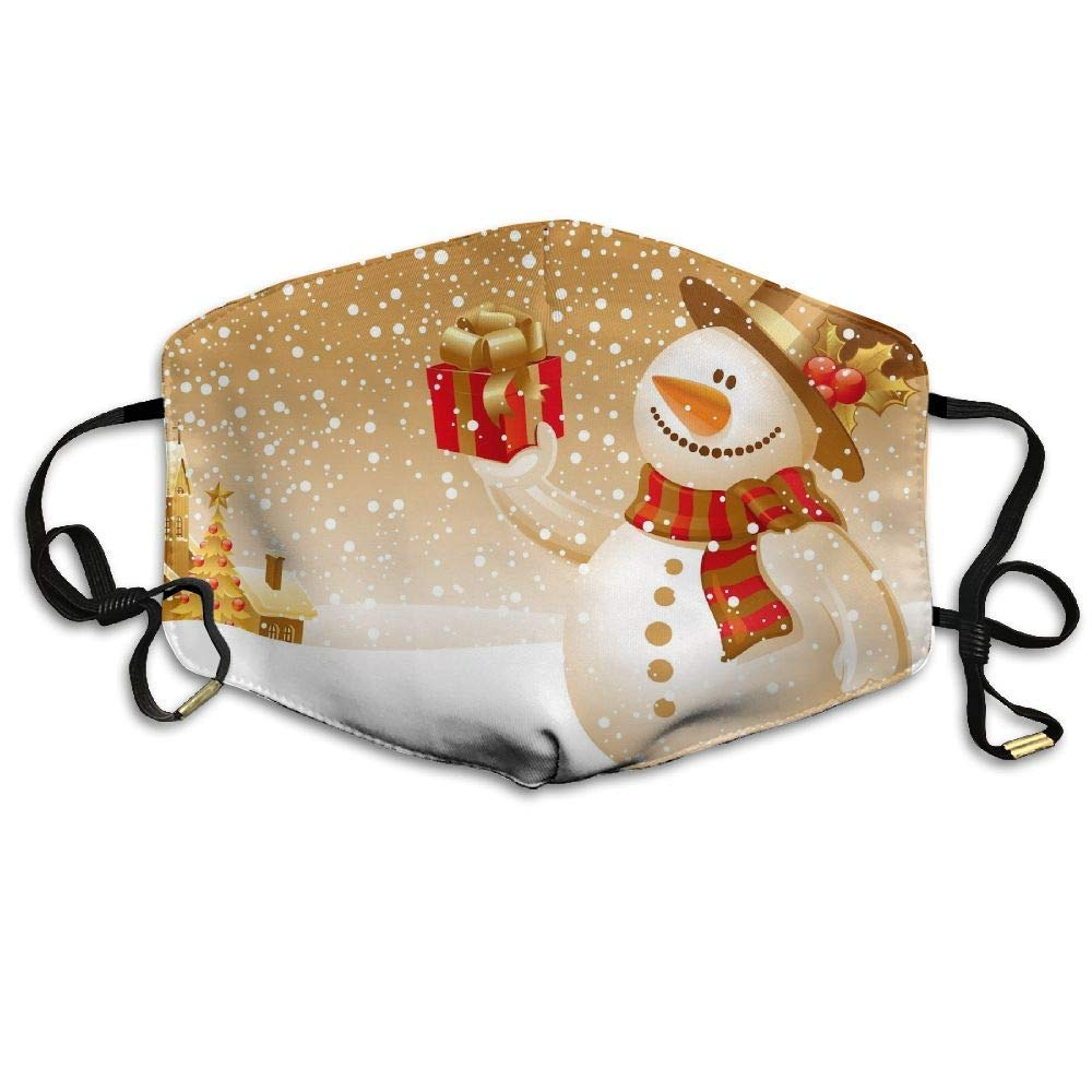 Rghkjlp Christmas Snowman Pics Anti Dust Breathable Face Mouth Mask for Man Woman