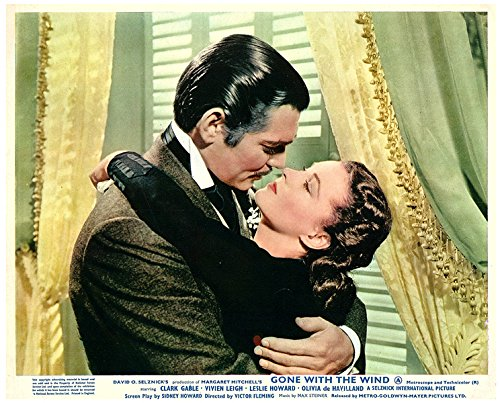 Gone With The Wind Original Lobby Card Clark Gable Vivien Leigh Embrace from Silverscreen
