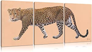 Leopard Wall Art Canvas Print: Leopard Pictures Wall Decor for Living Room Cheetah Wall Art for Boys' Bedroom Framed Ready to Hang (12