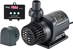 Hygger 24V DC Water Return Pump with Controller, Powerful Quiet Inline Submersible Water Pump for Saltwater Aquarium, Sump Tank, Pond, Waterfall 800-2650 GPH