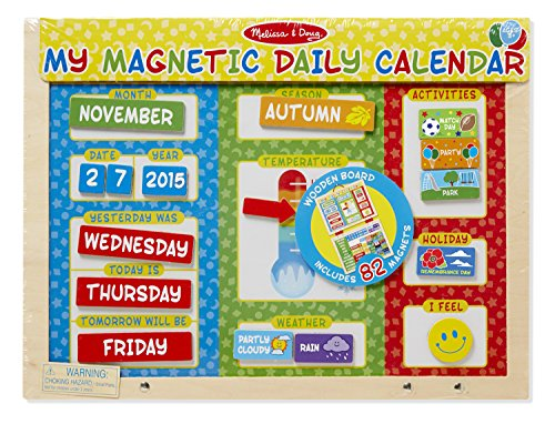 Melissa & Doug My First Daily Magnetic Calendar - Magnetic Chart Responsibility Doug