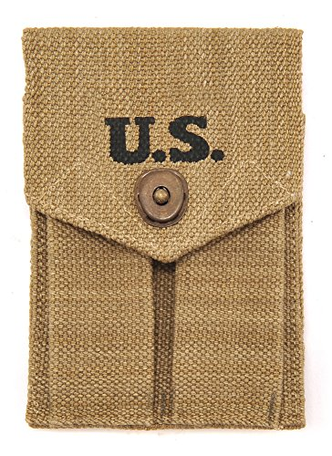(World War Supply WW2 Model 1911 45 AUTO DOUBLE MAGAZINE POUCH Marked JT&L 1942)