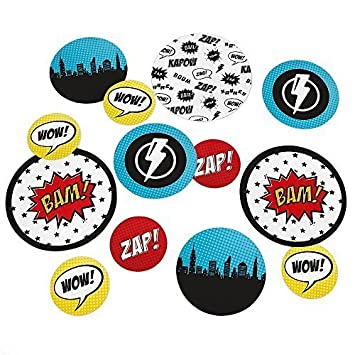 Superhero   Baby Shower Or Birthday Party Table Confetti   27 Count