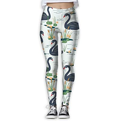 Swimming Swan Womens Fashion Yoga Leggings Patterned Workout Leggings Jogger Pants For Gym Home Outdoor Size !