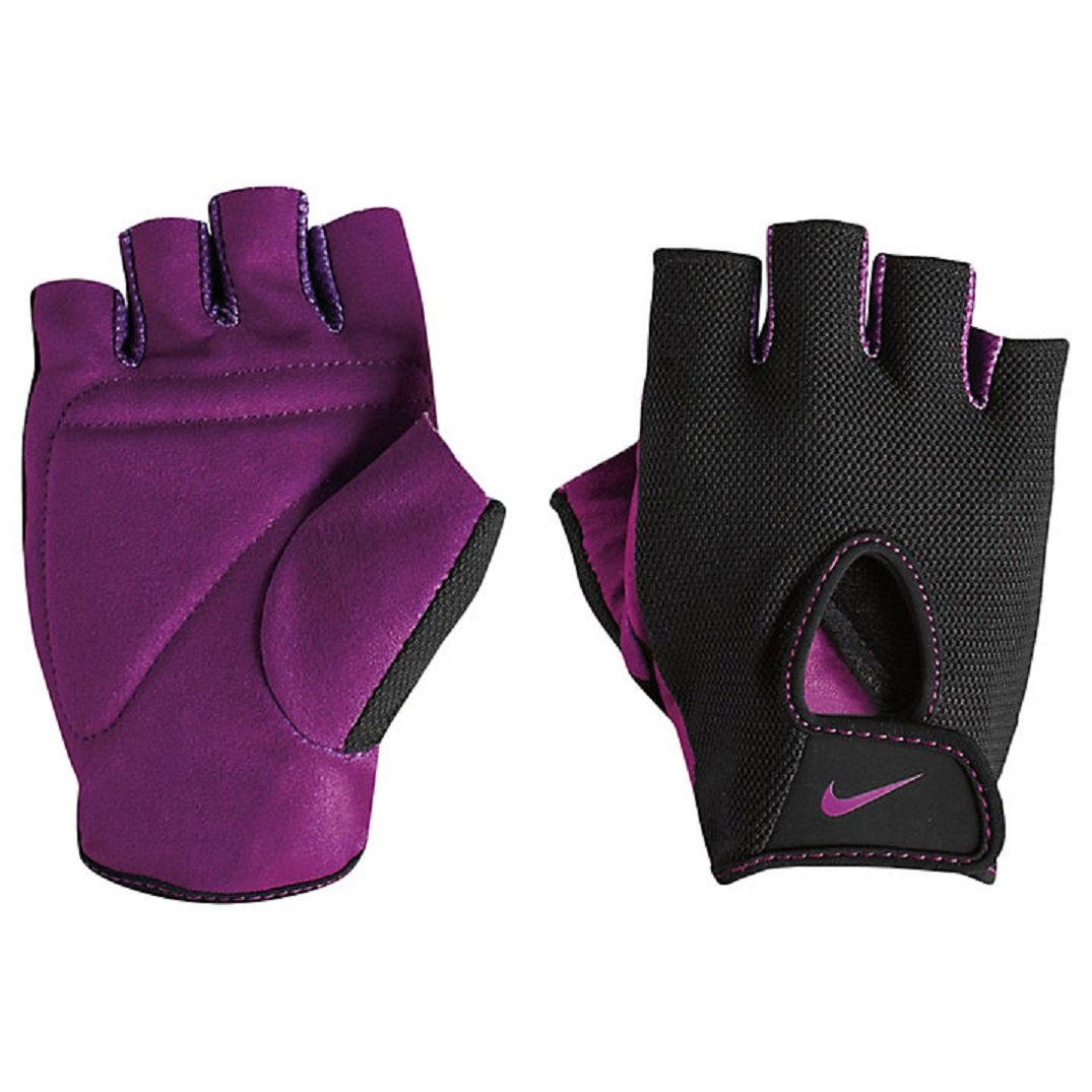 NIKE Women's Fundamental Training Gloves (Black/Bold Berry, Medium) by Nike