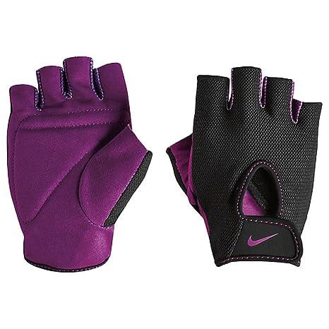 NIKE Women's Fundamental Training Gloves (Black/Bold Berry, Small)
