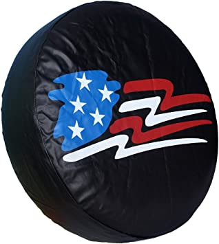 15 inch for Tire /Φ 27-29 HEALiNK Spare Tire Cover,PVC Leather Waterproof Dust-Proof Back Off Rv Wheel Covers for Jeep Liberty Wrangler SUV Camper Travel Trailer Accessories