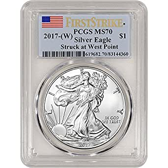 2017 (W) American Silver Eagle (1 oz) First Strike $1 MS70 PCGS