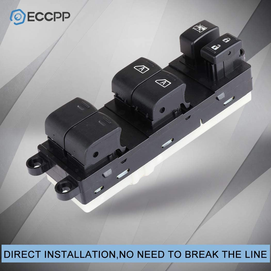 ECCPP Power Window Switch on Front Left Driver Side for 2009-2010 Nissan Pathfinder