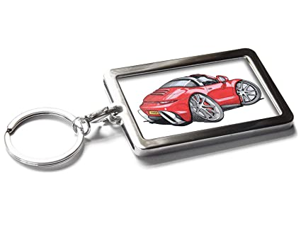 Amazon Com Koolart Cartoon Car Porsche 911 Targa Metal Keyring