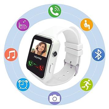Reloj Inteligente Smartwatch SN07 Redondo con Podómetro de Pantalla Táctil con Ranura para Tarjeta SIM para Samsung LG Sony xiaomi Google Huawei ...