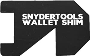 Wallet Shim - Credit Card Size Tool | Cool Gadgets for Men and Women: PVC Wallet Card - Black