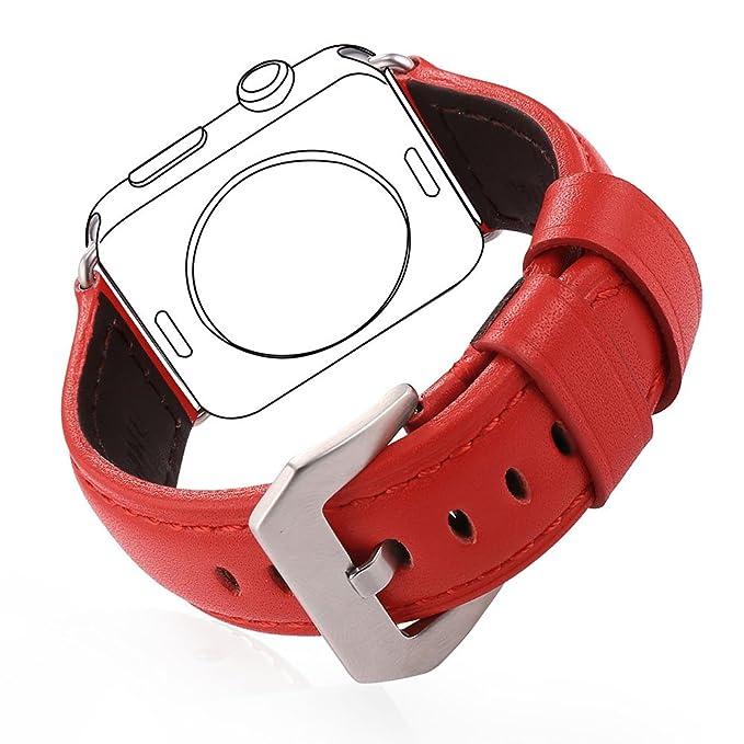 15 opinioni per Bandmax Cinturino di Scambio in Pelle Vera per Apple Watch Tutti i Modelli,
