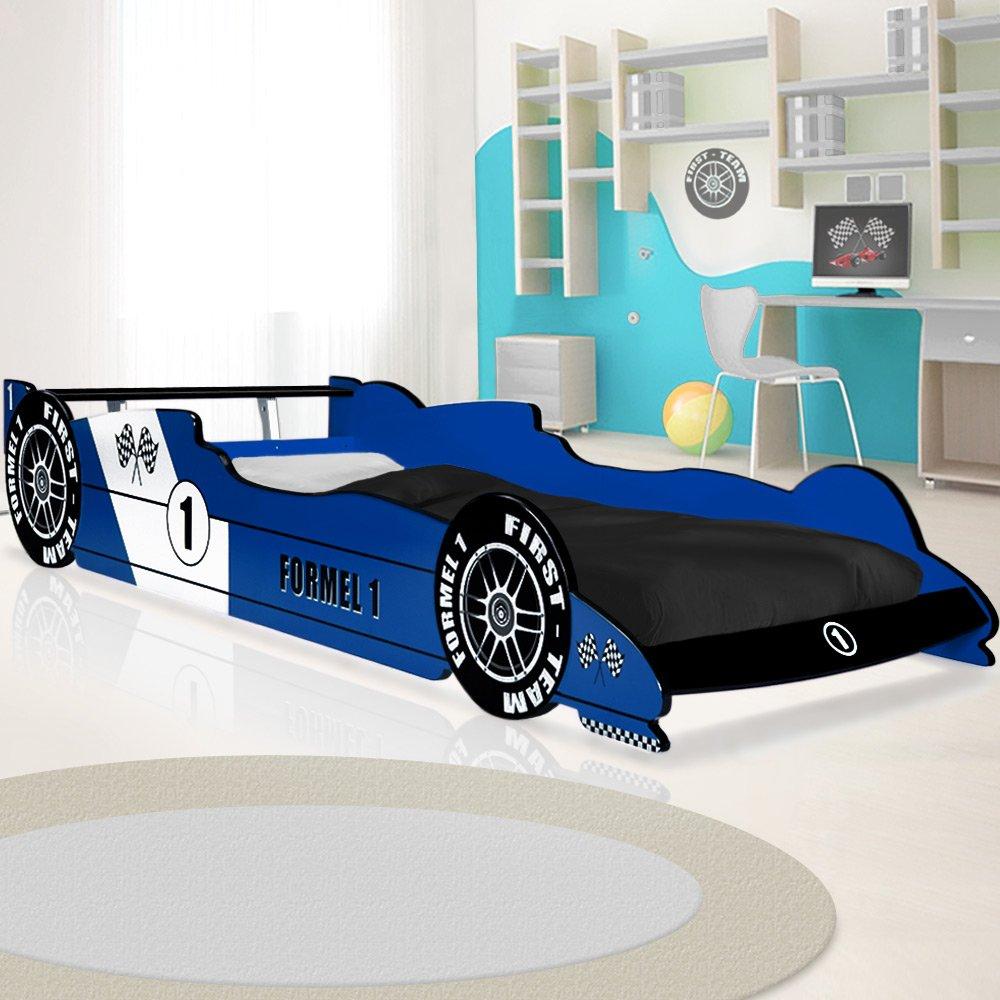 Kinderbett auto blau  Kinderbett Autobett F1 Formel 1 Jugendbett Jugendliege Juniorbett ...