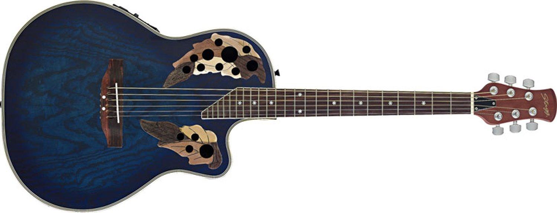 Stagg eléctrico - Shallow Bowl - Guitarra electroacústica con ...