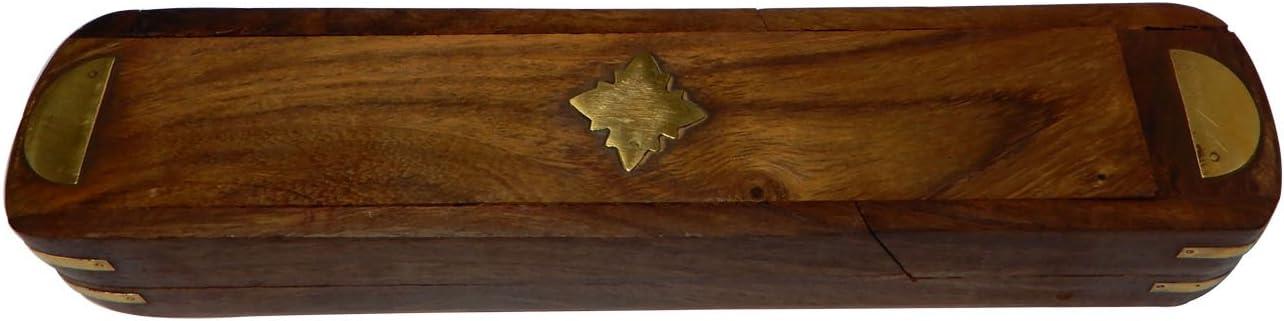 penna portapenne Titolare scatola con intarsio design e Slider porta penna in legno stand, Thanks Giving Gift for your Loved Ones