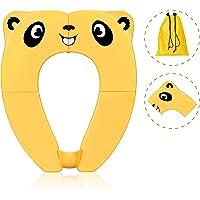 Asiento de inodoro portátil para niños, antideslizante, plegable, con bolsa de transporte y protector contra…