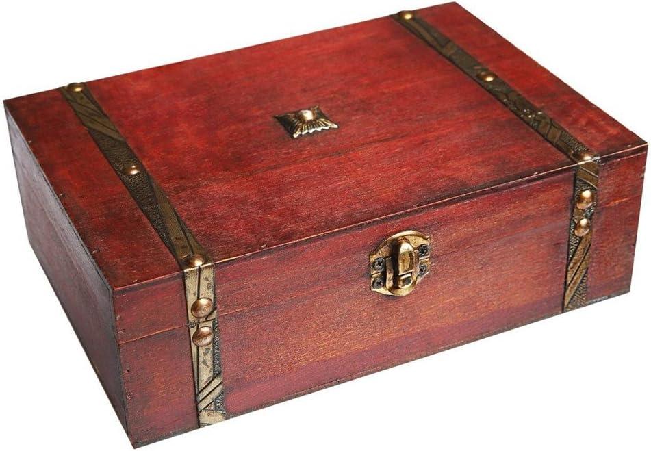 Colección de recuerdo de madera caja con tapa, caja de ...