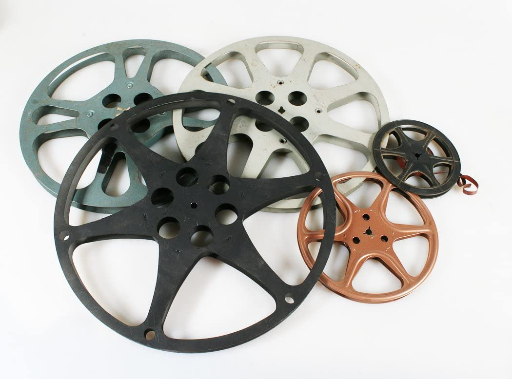 ASSORTED SIZES SET OF 5 MOVIE REELS